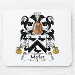 Escudo de la familia de Merlet Alfombrilla De Ratones