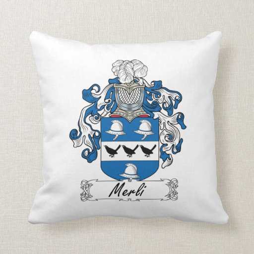 Escudo de la familia de Merli Almohada