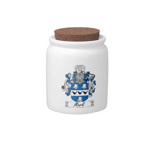 Escudo de la familia de Merli Platos Para Caramelos