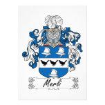 Escudo de la familia de Merli Invitaciones Personalizada