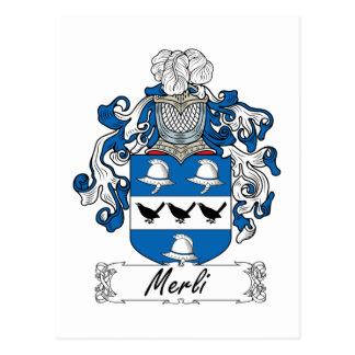 Escudo de la familia de Merli Postales