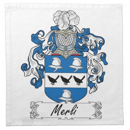 Escudo de la familia de Merli Servilletas
