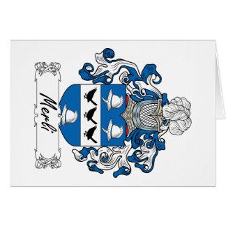 Escudo de la familia de Merli Tarjeta De Felicitación