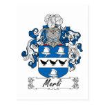 Escudo de la familia de Merli Tarjeta Postal