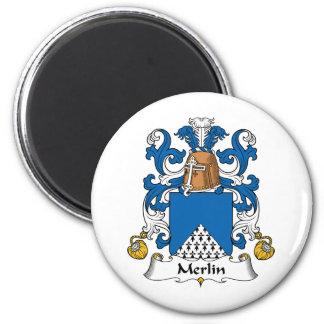 Escudo de la familia de MERLIN Imán Para Frigorífico