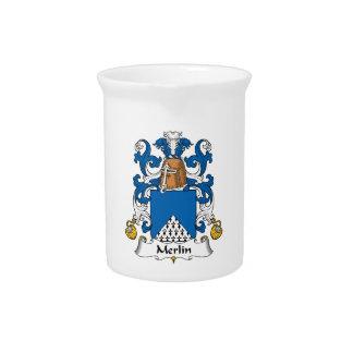 Escudo de la familia de MERLIN Jarras