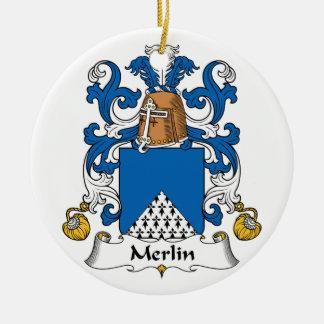 Escudo de la familia de MERLIN Ornamentos De Reyes