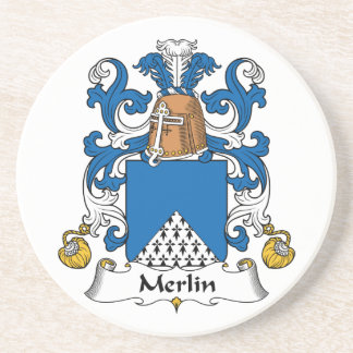 Escudo de la familia de MERLIN Posavasos Para Bebidas