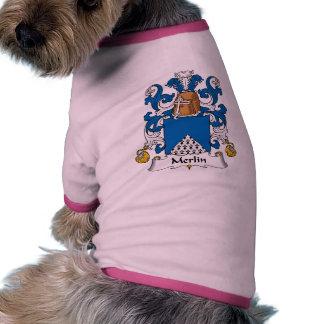 Escudo de la familia de MERLIN Camiseta Con Mangas Para Perro