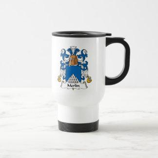 Escudo de la familia de MERLIN Tazas De Café