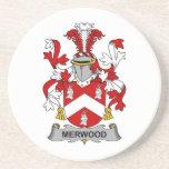 Escudo de la familia de Merwood Posavaso Para Bebida