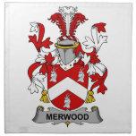 Escudo de la familia de Merwood Servilleta Imprimida