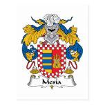 Escudo de la familia de Mesia Tarjetas Postales