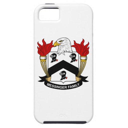 Escudo de la familia de Messinger iPhone 5 Case-Mate Coberturas