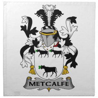 Escudo de la familia de Metcalfe Servilleta Imprimida