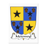 Escudo de la familia de Metenwyl Impresiones En Lona