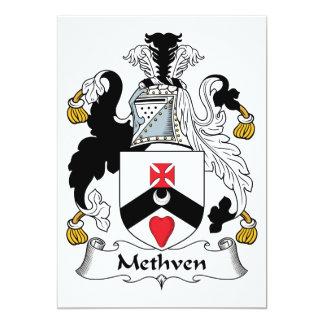 """Escudo de la familia de Methven Invitación 5"""" X 7"""""""
