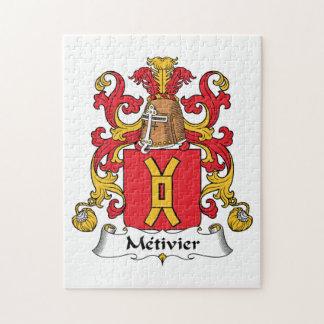 Escudo de la familia de Metivier Puzzle