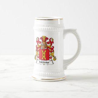 Escudo de la familia de Metivier Tazas De Café