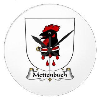 Escudo de la familia de Mettenbuch Reloj De Pared