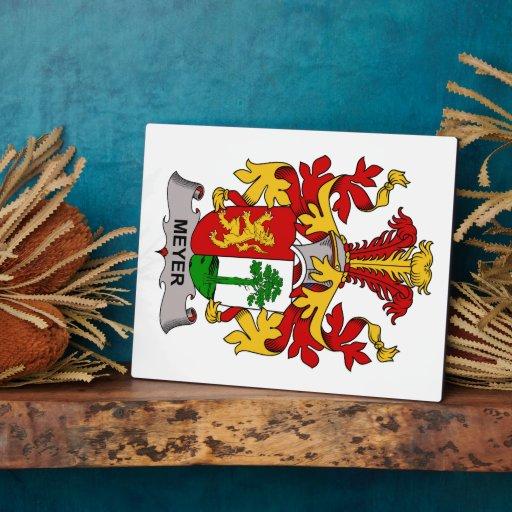 Escudo de la familia de Meyer Placa De Madera