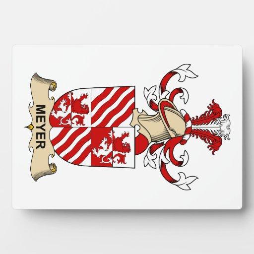 Escudo de la familia de Meyer Placas Para Mostrar