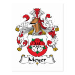Escudo de la familia de Meyer Postales