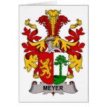 Escudo de la familia de Meyer Tarjeta
