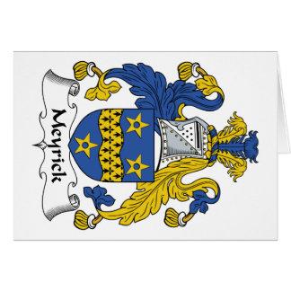 Escudo de la familia de Meyrick Tarjeta De Felicitación