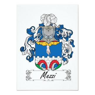 """Escudo de la familia de Mezzi Invitación 5"""" X 7"""""""