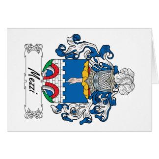 Escudo de la familia de Mezzi Tarjeta De Felicitación