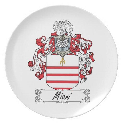 Escudo de la familia de Miani Plato De Comida