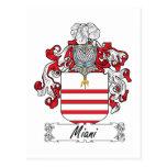 Escudo de la familia de Miani Postal