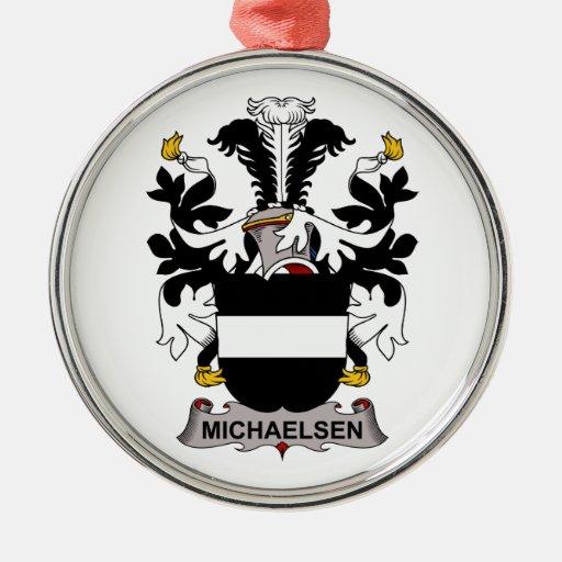 Escudo de la familia de Michaelsen Adorno Redondo Plateado
