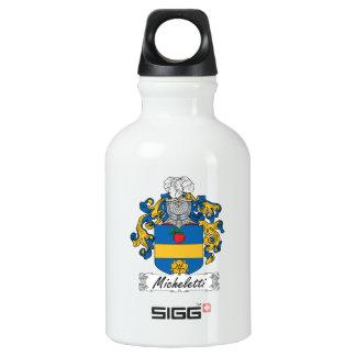 Escudo de la familia de Micheletti Botella De Agua
