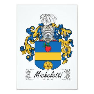 """Escudo de la familia de Micheletti Invitación 5"""" X 7"""""""