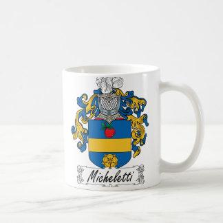 Escudo de la familia de Micheletti Taza De Café