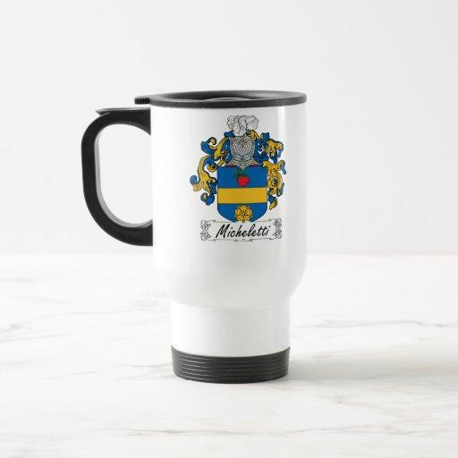 Escudo de la familia de Micheletti Tazas De Café