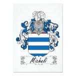 Escudo de la familia de Micheli Invitación 12,7 X 17,8 Cm