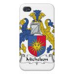 Escudo de la familia de Michelson iPhone 4 Coberturas