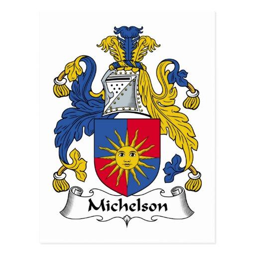 Escudo de la familia de Michelson Postales
