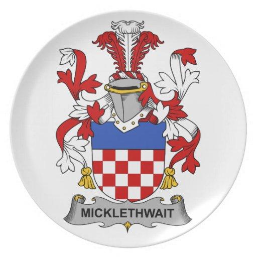 Escudo de la familia de Micklethwait Plato De Cena