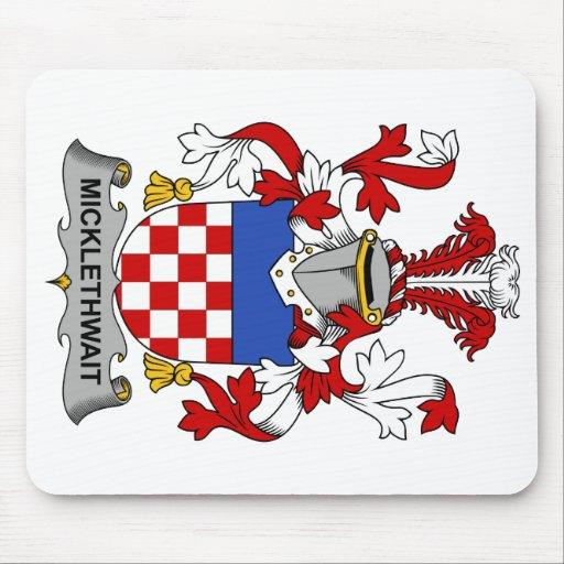 Escudo de la familia de Micklethwait Tapete De Ratones