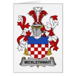 Escudo de la familia de Micklethwait Tarjetón