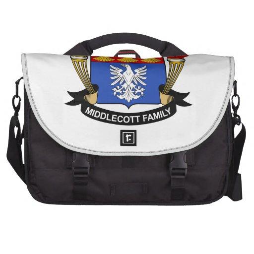 Escudo de la familia de Middlecott Bolsas Para Ordenador