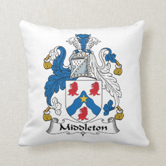 Escudo de la familia de Middleton Almohada
