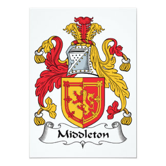Escudo de la familia de Middleton Invitación 12,7 X 17,8 Cm