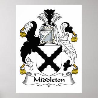 Escudo de la familia de Middleton Impresiones
