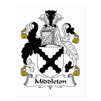 Escudo de la familia de Middleton Tarjetas Postales