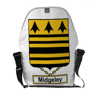 Escudo de la familia de Midgeley Bolsa Messenger